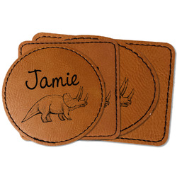 Dinosaurs Faux Leather Iron On Patch (Personalized)