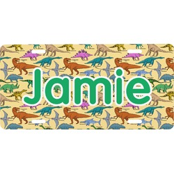 Dinosaurs Front License Plate (Personalized)