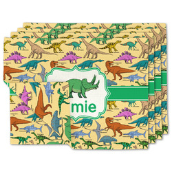 Dinosaurs Linen Placemat w/ Name or Text