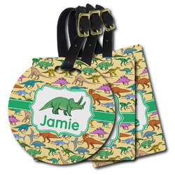 Dinosaurs Plastic Luggage Tags (Personalized)