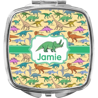 Dinosaurs Compact Makeup Mirror (Personalized)