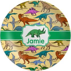 "Dinosaurs Melamine Salad Plate - 8"" (Personalized)"
