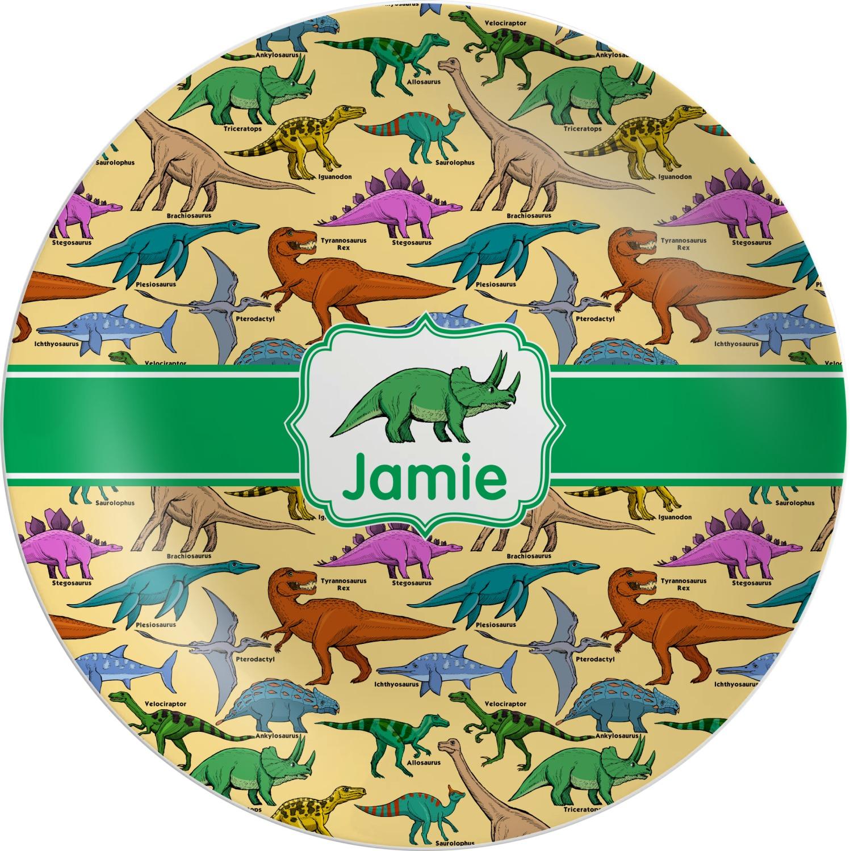 Dinosaurs Melamine Plate (Personalized)  sc 1 st  YouCustomizeIt & Dinosaurs Melamine Plate (Personalized) - YouCustomizeIt