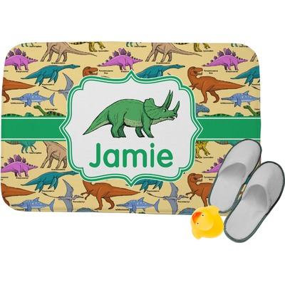Dinosaurs Memory Foam Bath Mat (Personalized)