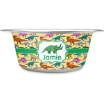 Dinosaurs Stainless Steel Dog Bowl (Personalized)