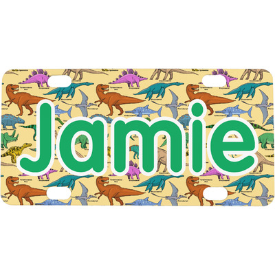 Dinosaurs Mini / Bicycle License Plate (4 Holes) (Personalized)