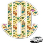 Dinosaurs Monogram Car Decal (Personalized)