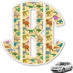 Dinosaurs Monogram Car Decal (Personalized)