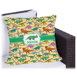 """Dinosaurs Outdoor Pillow - 18"""" (Personalized)"""