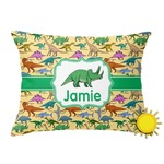 Dinosaurs Outdoor Throw Pillow (Rectangular) (Personalized)