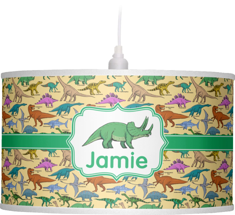 Dinosaurs Drum Pendant Lamp Personalized Youcustomizeit