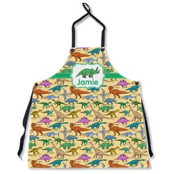 Dinosaurs Apron Without Pockets w/ Name or Text