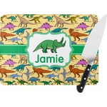 Dinosaurs Rectangular Glass Cutting Board (Personalized)