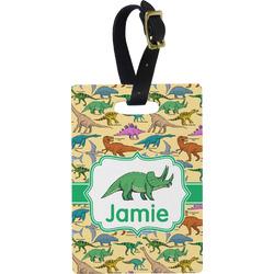 Dinosaurs Rectangular Luggage Tag (Personalized)