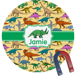 Dinosaurs Round Fridge Magnet (Personalized)