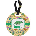 Dinosaurs Round Luggage Tag (Personalized)