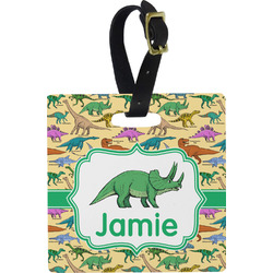 Dinosaurs Square Luggage Tag (Personalized)