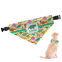 Dinosaurs Dog Bandana - Large (Personalized)
