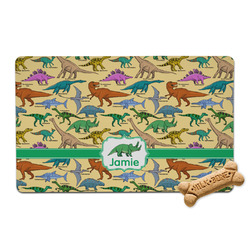 Dinosaurs Pet Bowl Mat (Personalized)