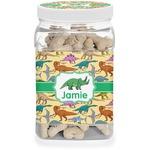 Dinosaurs Dog Treat Jar (Personalized)
