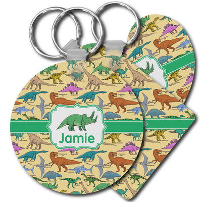 Dinosaurs Plastic Keychains (Personalized)