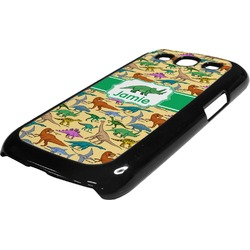 Dinosaurs Plastic Samsung Galaxy 3 Phone Case (Personalized)