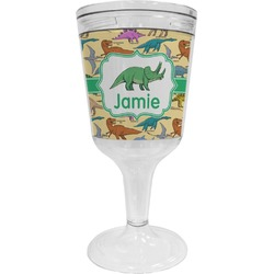 Dinosaurs Wine Tumbler - 11 oz Plastic (Personalized)