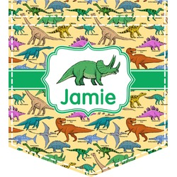 Dinosaurs Iron On Faux Pocket (Personalized)