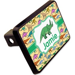 """Dinosaurs Rectangular Trailer Hitch Cover - 2"""" (Personalized)"""