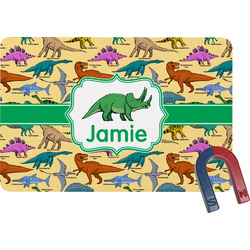 Dinosaurs Rectangular Fridge Magnet (Personalized)