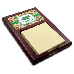 Dinosaurs Red Mahogany Sticky Note Holder (Personalized)