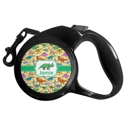 Dinosaurs Retractable Dog Leash - Multiple Sizes (Personalized)