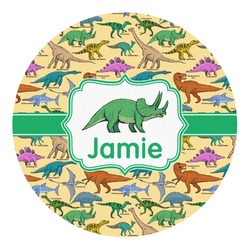 Dinosaurs Round Decal - Custom Size (Personalized)