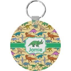Dinosaurs Round Keychain (Personalized)