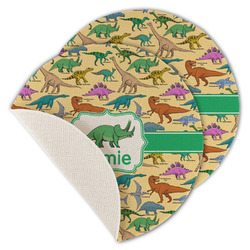 Dinosaurs Round Linen Placemat (Personalized)