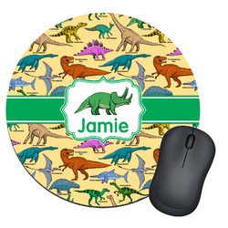 Dinosaurs Round Mouse Pad (Personalized)