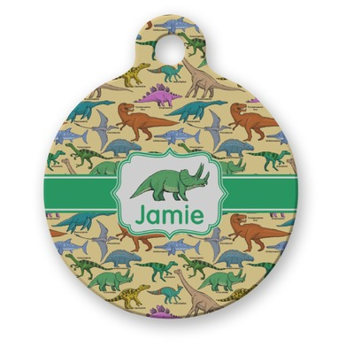 Dinosaurs Round Pet Tag (Personalized)