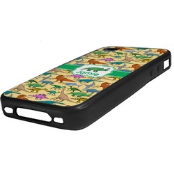 Dinosaurs Rubber iPhone Case 4/4S (Personalized)