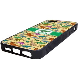 Dinosaurs Rubber iPhone 5/5S Phone Case (Personalized)