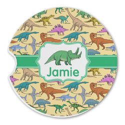 Dinosaurs Sandstone Car Coaster - Single (Personalized)