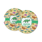 Dinosaurs Sandstone Car Coasters (Personalized)