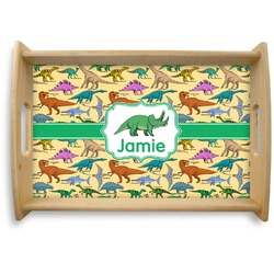 Dinosaurs Natural Wooden Tray (Personalized)