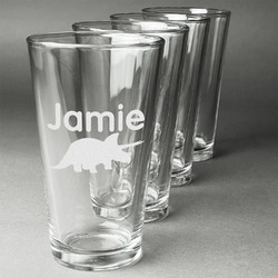 Dinosaurs Beer Glasses (Set of 4) (Personalized)