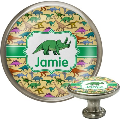 Dinosaurs Cabinet Knob (Silver) (Personalized)