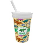 Dinosaurs Sippy Cup with Straw (Personalized)