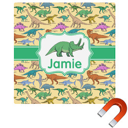 Dinosaurs Square Car Magnet (Personalized)