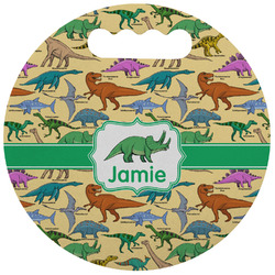 Dinosaurs Stadium Cushion (Round) (Personalized)