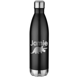Dinosaurs Black Water Bottle - 26 oz. Stainless Steel  (Personalized)