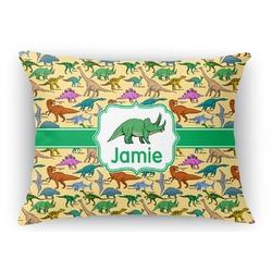 Dinosaurs Rectangular Throw Pillow Case (Personalized)