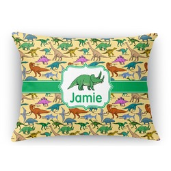 "Dinosaurs Rectangular Throw Pillow Case - 12""x18"" (Personalized)"